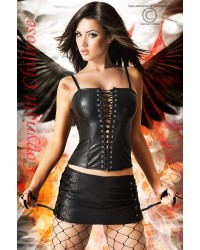 Luciferia Set Corset With Skirt And String