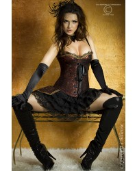Dark Red Corset With Skirt
