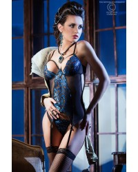 Blue Diamond  Bustier With G-String