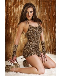 Cheetah Dress With Gloves