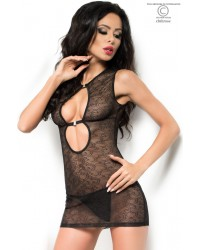 Hollywood Lace Babydoll Black