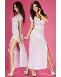 Biala Long Babydoll With Lace Accent