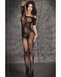 Spider bodystocking In Black