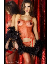 Erotic Mesh Set Red