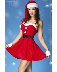 Christmas Dress With Wristbands And Hat