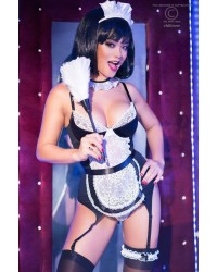 French Maid Corset With Garterbelt
