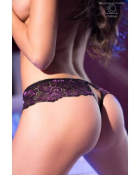 Lace Crotchless Ouvert Purple/Black